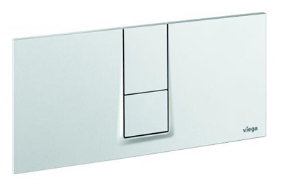 Кнопка смыва Visign for Style 14 Viega 654689, пластиковая, альпийский белый  271х140