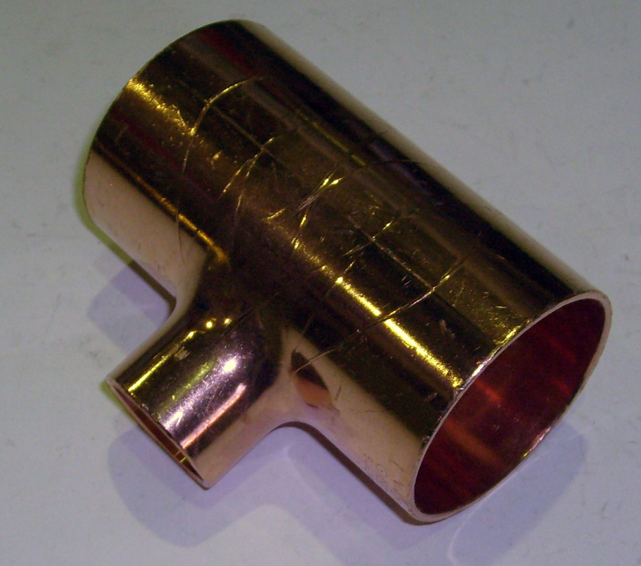 Тройник 90°, медный, ВПр, VIEGA, арт.95130  54 х 28 х 54 мм
