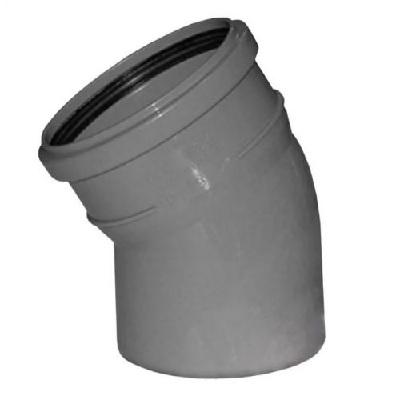 Отвод, косой, ПВХ, серый,  канализационный  100 мм