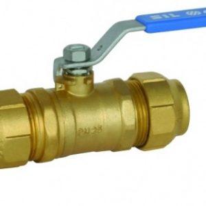 Кран шаровый, для PE-x труб, стальной рычаг, РN50, латунный, ARCO, арт.М1281PEX 25 х 25