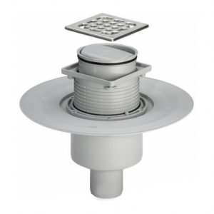 Трап с защитой от запаха Advantix 100*100, для ванной комнаты, вертикальный отвод, пластик, VIEGA, арт.583224   50мм