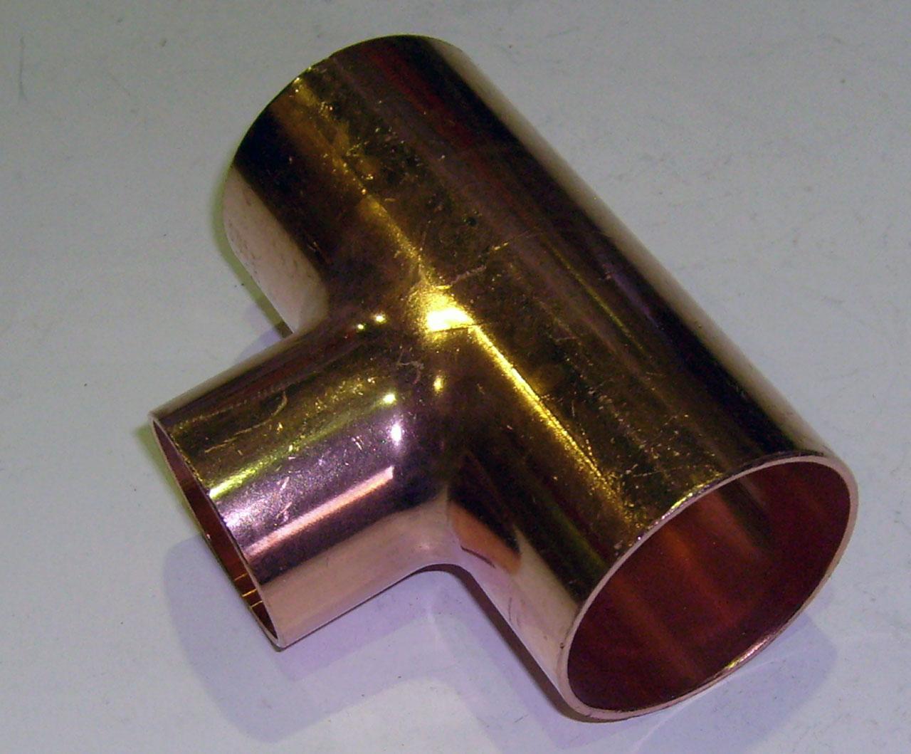 Тройник 90°, медный, ВПр, VIEGA, арт.95130  54 х 42 х 54 мм