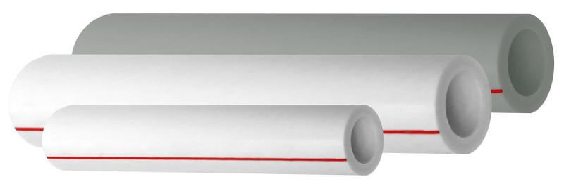 Труба полипропиленовая OPTIMUM армированная стекловолокном, SDR 6, белая, PN20, FDplast арт.2591  25