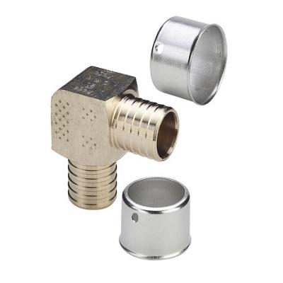 Угол 90°с SC-contur, Pexfit, VIEGA 2716, бронзовый, пресс  25 мм