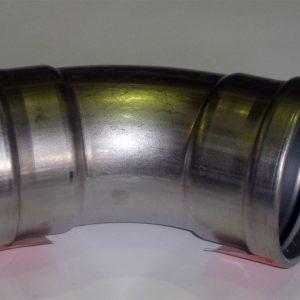 Отвод 45° с SC-contur Sanpress Inox, VIEGA 2326XL, нержавеющая сталь  88,9мм