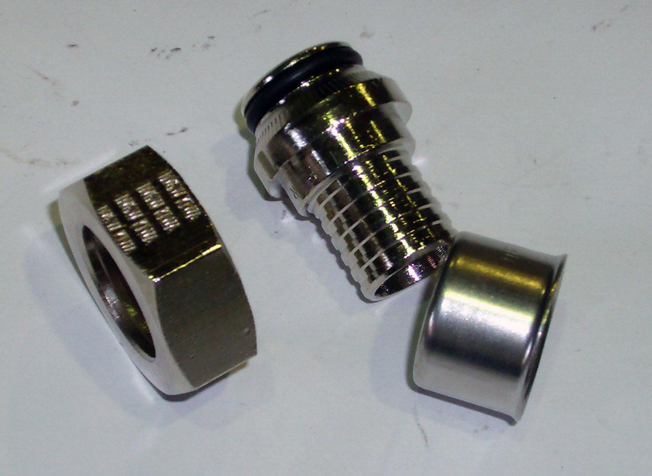 """Пресс-адаптер Pexfit Euroconus, для подключения радиаторов, латунь, никелированный, арт.2735  20 х 3/4"""""""