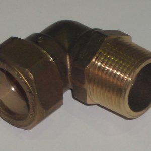 "Угол 90° НР, компрессионный, латунный, для медных труб, IMI, арт.616 22 х 3/4"""