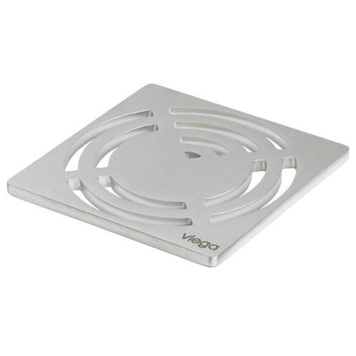 Решетка декоративная  RS3 VIEGA 492304 нержавеющая сталь, толщина 5мм   100х100
