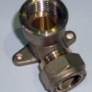 """Водорозетка ВР компрессионная, латунная, для Pe-X труб, General Fitting, арт.1N00.23  15 х 1/2""""."""