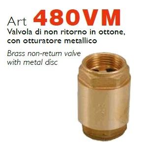 RASTELLI серия 480VM обратные клапаны, с латунным затвором