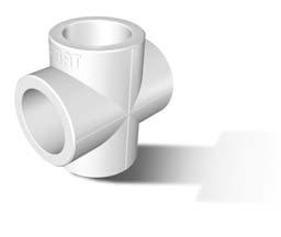 Крестовина полипропиленовая, белая, FIRAT (Турция) арт.7B35000020 PN20  20мм.