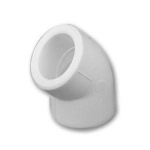Угол 45° полипропиленовый, белый, HAKAN, арт.4300102000121 PN20  20мм.
