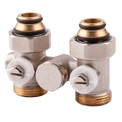 """Вентиль со встроенной термостатической группой, для радиатора, нижний, однотрубный, НР, ICMA арт.904  3/4""""х12"""