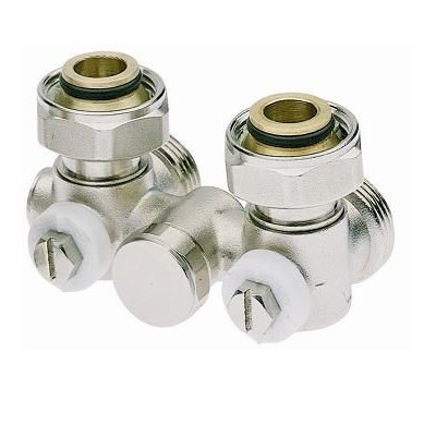 """Вентиль со встроенной термостатической группой, для радиатора,  угловой, нижний, однотрубный, НР, ICMA арт.905  3/4""""х12"""