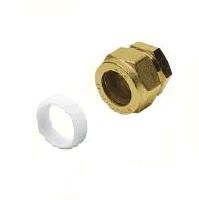 Заглушка обжимная, с тефлоновым кольцом компрессионная, латунная, NTM, арт.235Н  6 мм