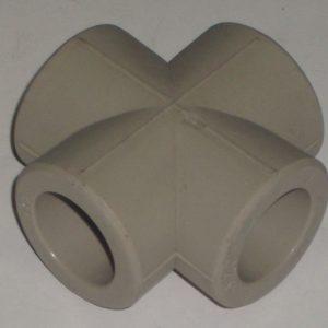 Крестовина полипропиленовая, серая, FIRAT (Турция) арт.7735000020 PN25  20мм.