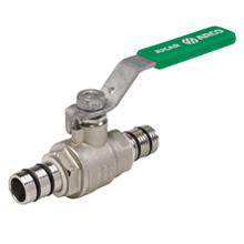 Кран шаровый для многослойных труб, рычаг, зеленый, ARCO, арт.JUC20   16 х 2,0