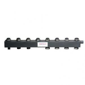 Коллектор для котельной обвязки, распределительный   КК-40F/125/40/ 4+2 контура