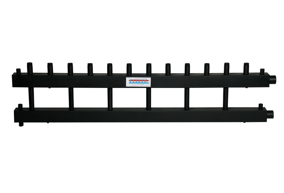 Коллектор для котельной обвязки, распределительный   КК-25М/125/40/7D контуров