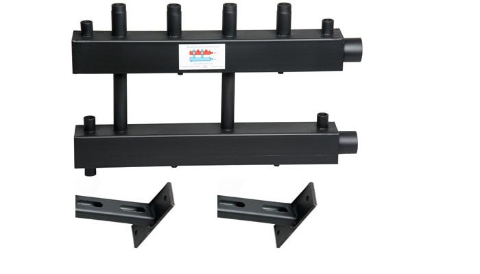 Коллектор для котельной обвязки, распределительный   КК-25М/125/40/2+2/D контура