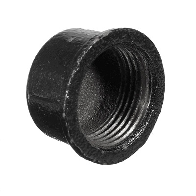 EE Заглушка-колпак круглая внутренняя резьба, чугун черный, артикул 301