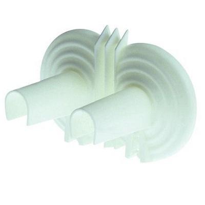Розетка декоративная, сдвоенная, с накладкой на трубу, пластик, ICMA арт.107