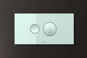 Кнопка смыва Visign for Style 10 Viega 596316, пластиковая, альпийский белый  271х140
