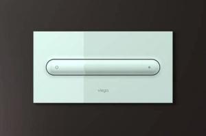 Кнопка смыва Visign for Style 11 Viega 597108, пластиковая, альпийский белый  271х140