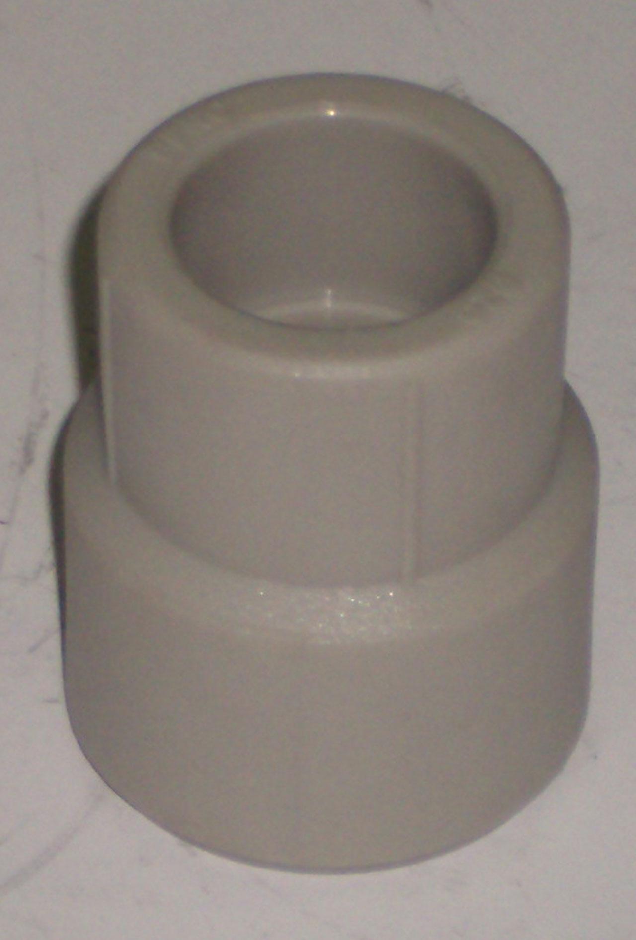 Муфта полипропиленовая переходная FIRAT, серая, Н/В, арт.7723025020  25х20
