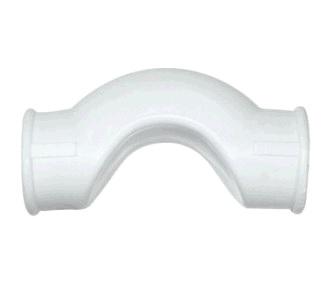 Обводное колено  с муфтой, короткое d 25, белый  РТП